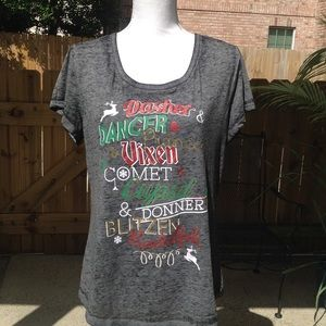 Rocker Girl Christmas 🎄 tee shirt Juniors XXL